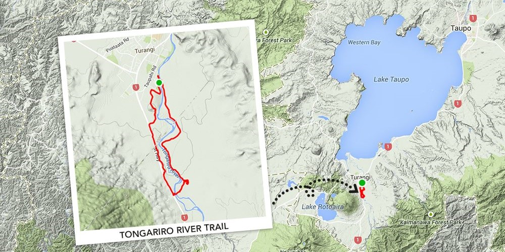Tongariro River Trail Map